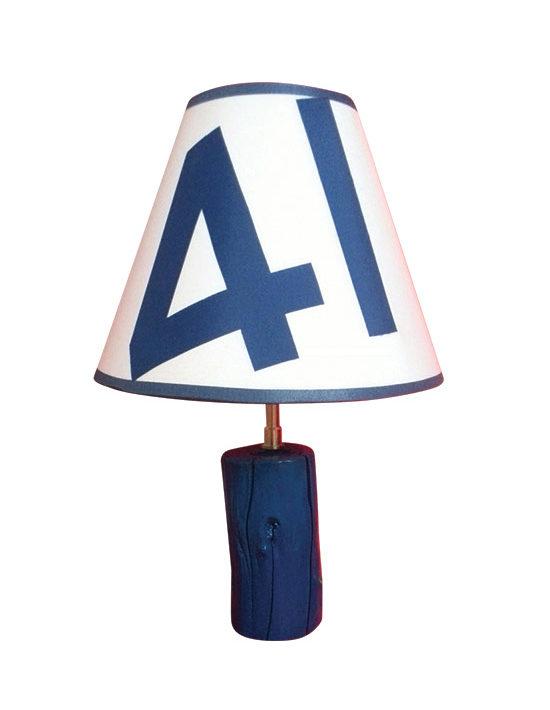 lampe 41 en bois vernis