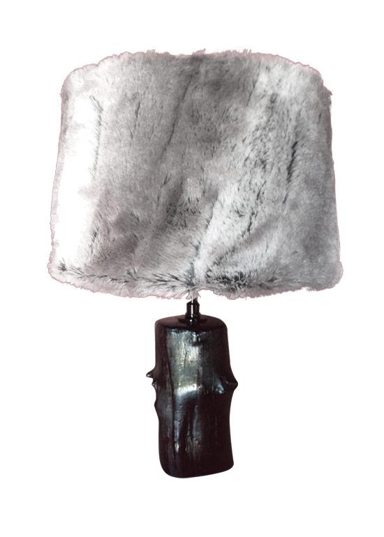lampe fourrure les bois de stang kervan. Black Bedroom Furniture Sets. Home Design Ideas