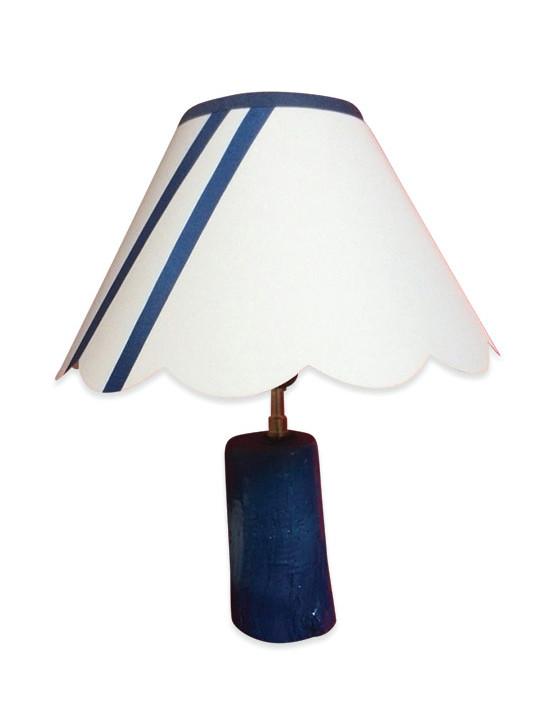 Lampe bateau en bois vernis