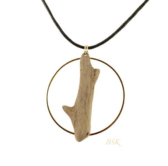 Collier arbre dans cercle d'or