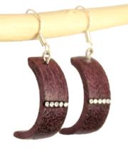 Boucle d'oreilles en bois et strass Swarovski