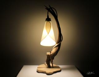 Lampe bois flotte bois perdu nature abat jour suspendu Quietude