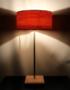 Lampe en bois moderne et épurée abat-jour feuille de bois