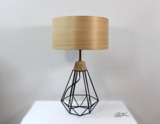 lampe BSK tendance bois et metal Diamant noir