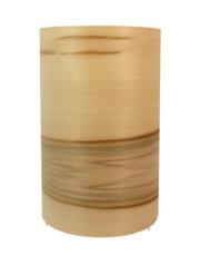 Lampe avec abat jour en bois