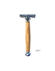 rasoir de surete en bois